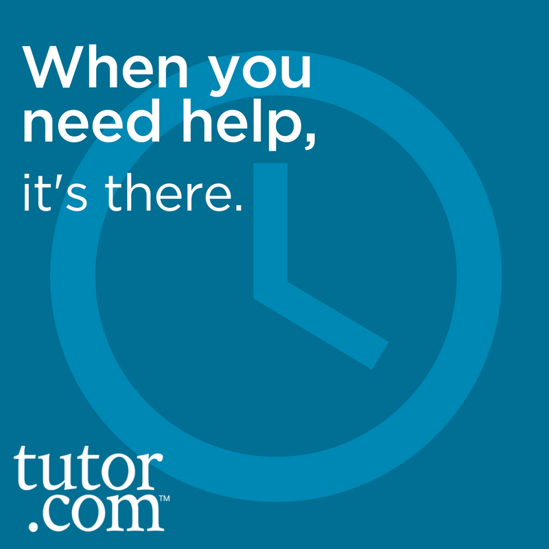 Tutor.com offers FREE tutoring for DCTC students 24 hours a day, 7 days a week!