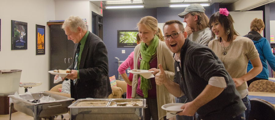 Enjoying Swedish Meatballs at MSLA's Minnesota's Nordic Heritage  Event