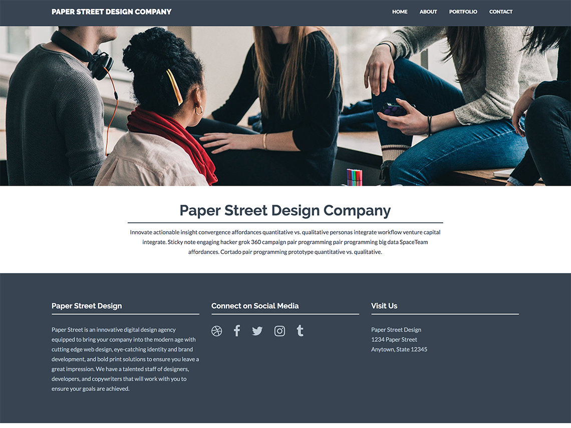 Web Design Student Work